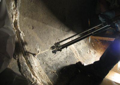 drill concrete pipe